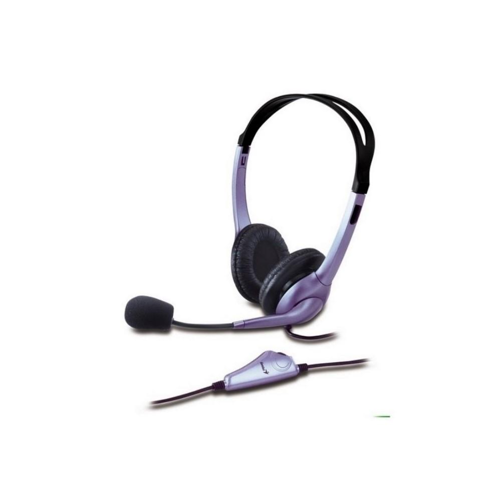 Audifono Diadema Genius HS-04S 2 Plug 3.5mm Azul/Negro