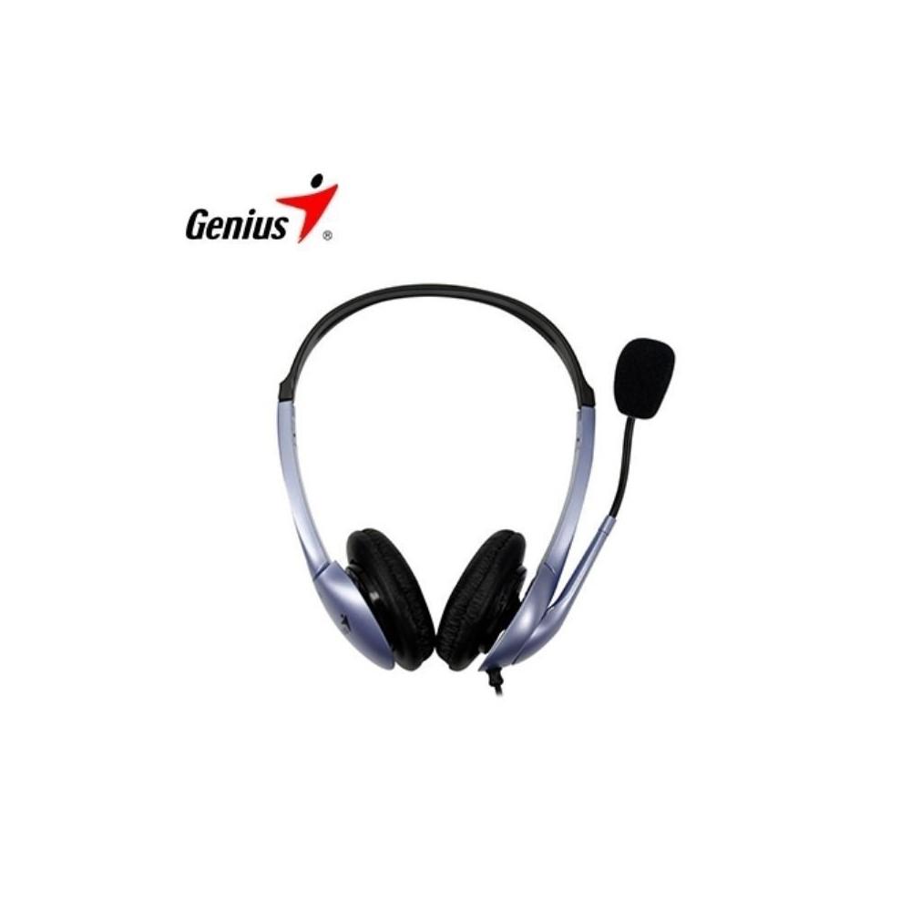 Audifono Diadema Genius HS-04S 1 plug3.5mm Azul