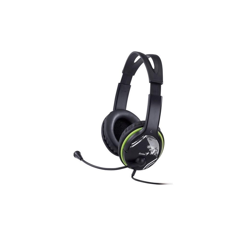 Audifono Diadema Genius HS-400A 2 plug 3.5mm Verde/negro