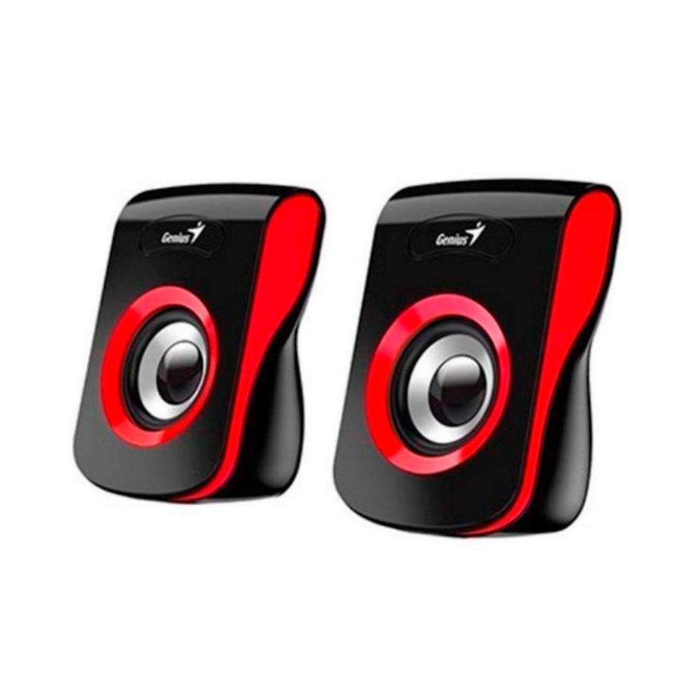 Parlantes Para Computador Genius Sp-Q180 Usb 6W Rojo