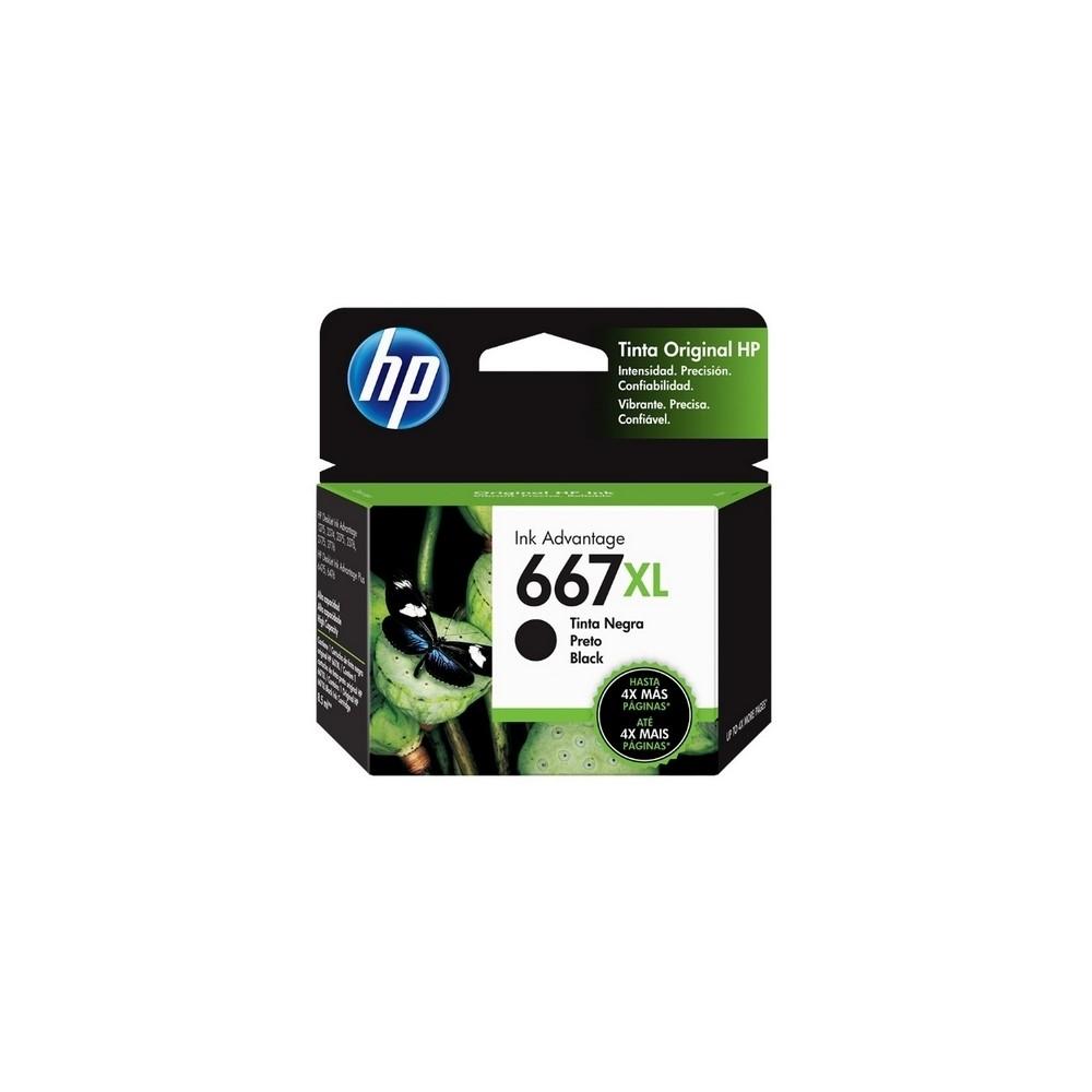 CARTUCHO HP NEGRO 667XL HP DESKJET INK ADVANTAGE 1216,1275,2335,2374,4175 480 pag