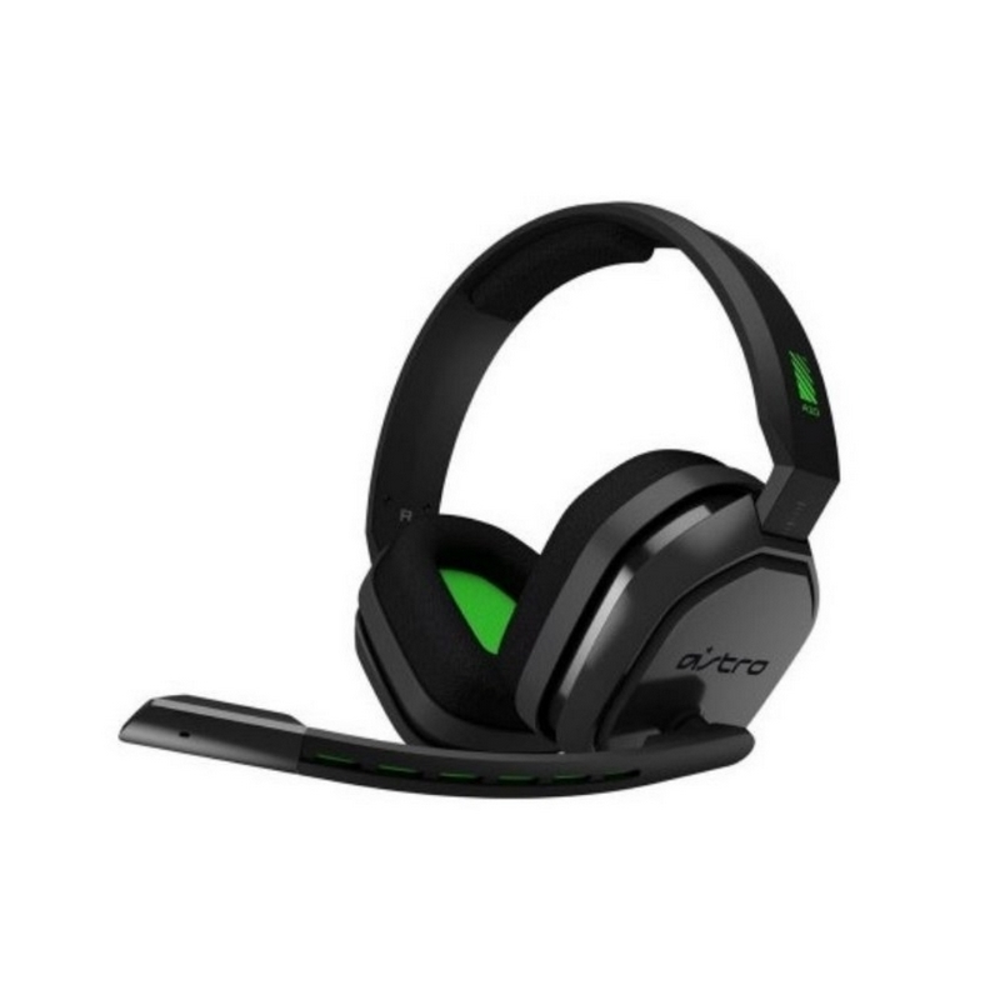 DIADEMA ASTRO A10 Logitech Gaming Alámbrica Plug3.5mm/USB Xbox Micrófono Cancela ruido Cable 2Metros Garantía 1Año-NEGRA-VERDE