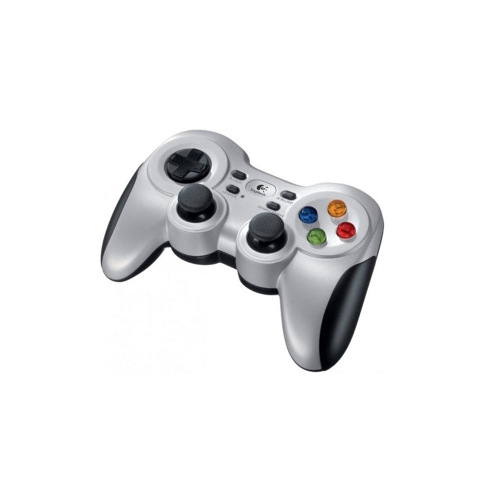 GAMEPAD F710 Logitech Gaming Inalámbrico Receptor USB Compatible PC-Android TV Dirección Para 4 Conmutadores Doble Efecto de Vibración Garantía 3Años-SILVER