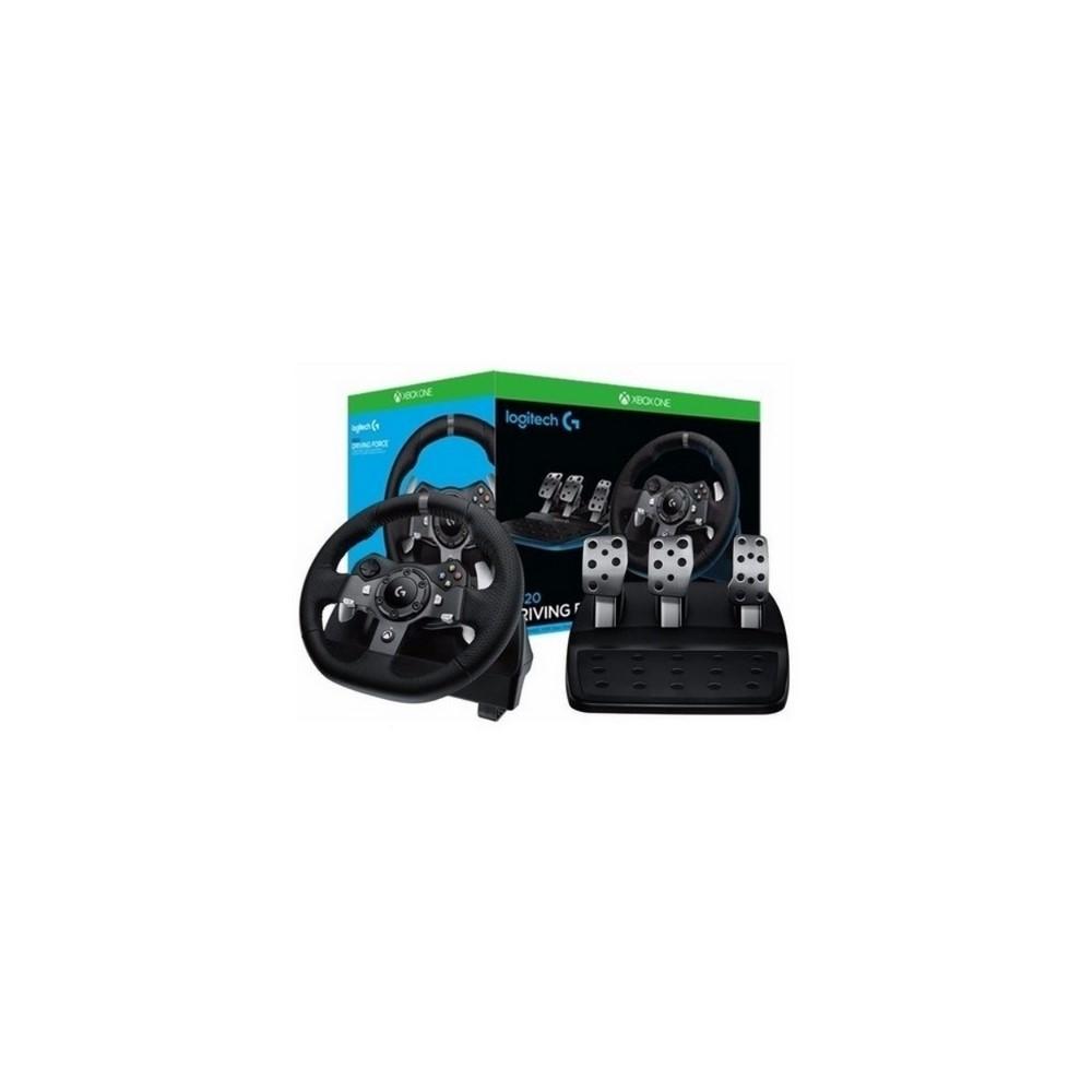TIMON G920 Logitech Gaming Timón de Carreras Con Pedales USB Compatible XBOX One/PC Garantía 2Años-NEGRO