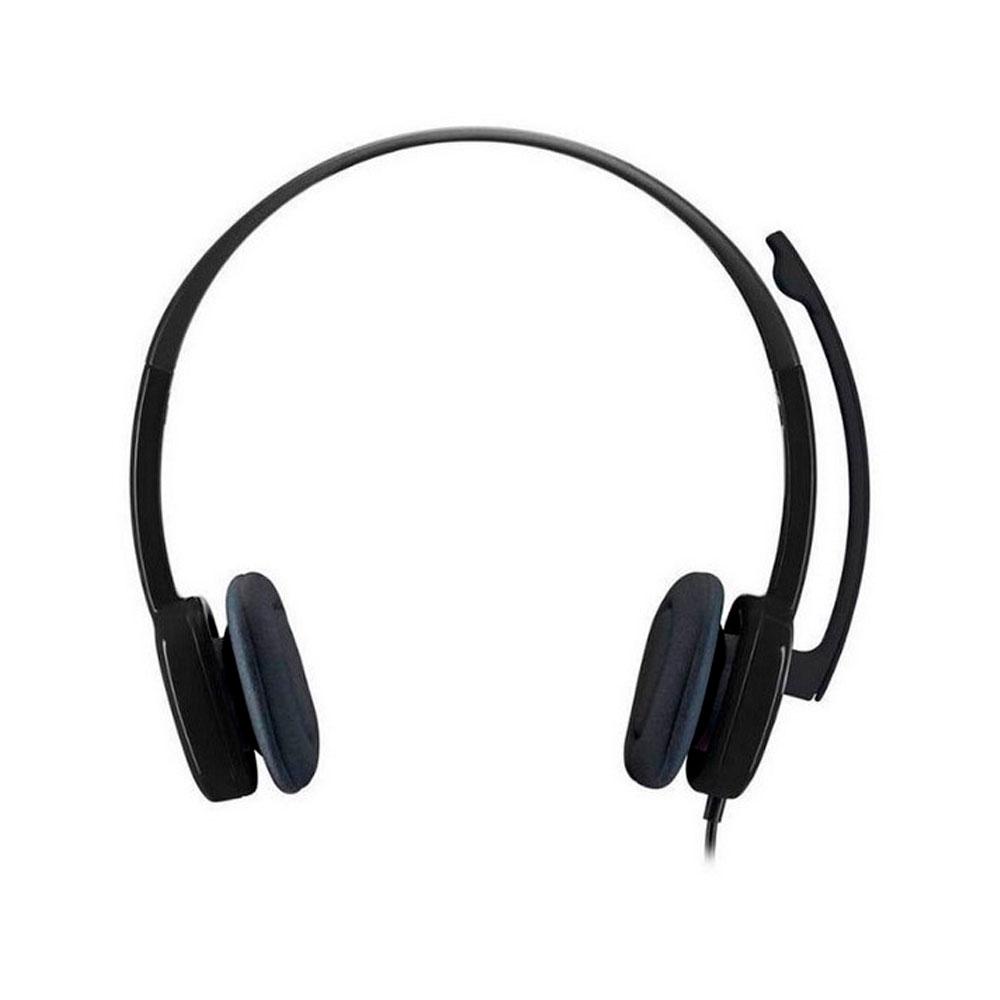 DIADEMA H151 Logitech Plug 3.5MM Compatible PC-Cell-Tablet Estéreo Micrófono Giratorio Cable 1.8Metros y Controles Garantía 1Año-NEGRO