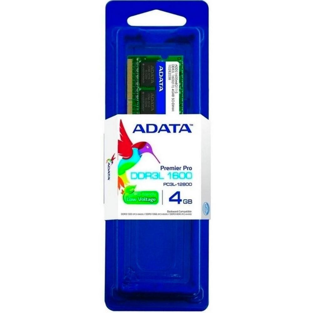 ADATA MEMORIA RAM PORTATIL DDR3 4GB BUS 1600 LOW VOLTAGE