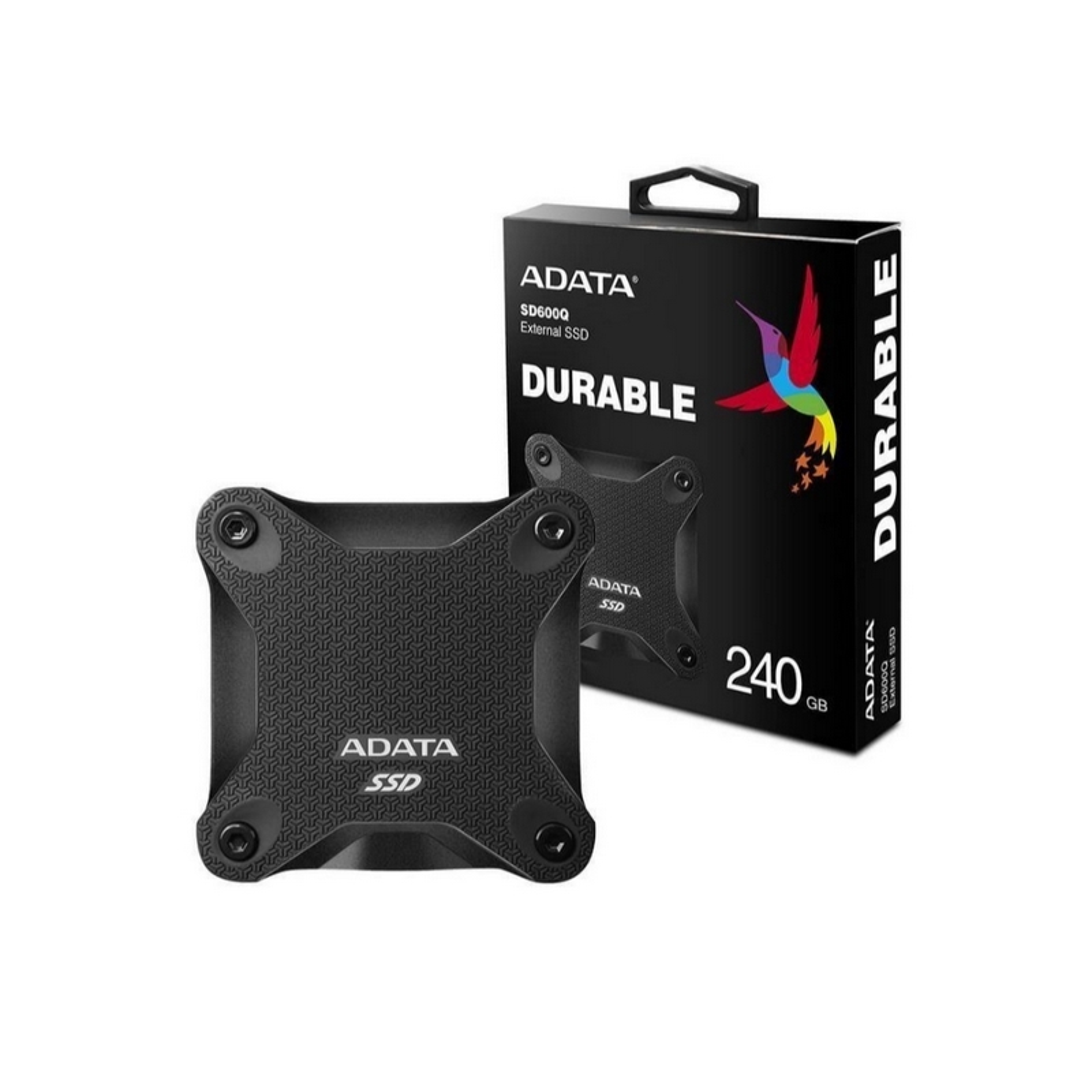 Disco duro SSD EXTERNO ADATA 240GB ANTIGOLPES SD600 240GB NEGRO
