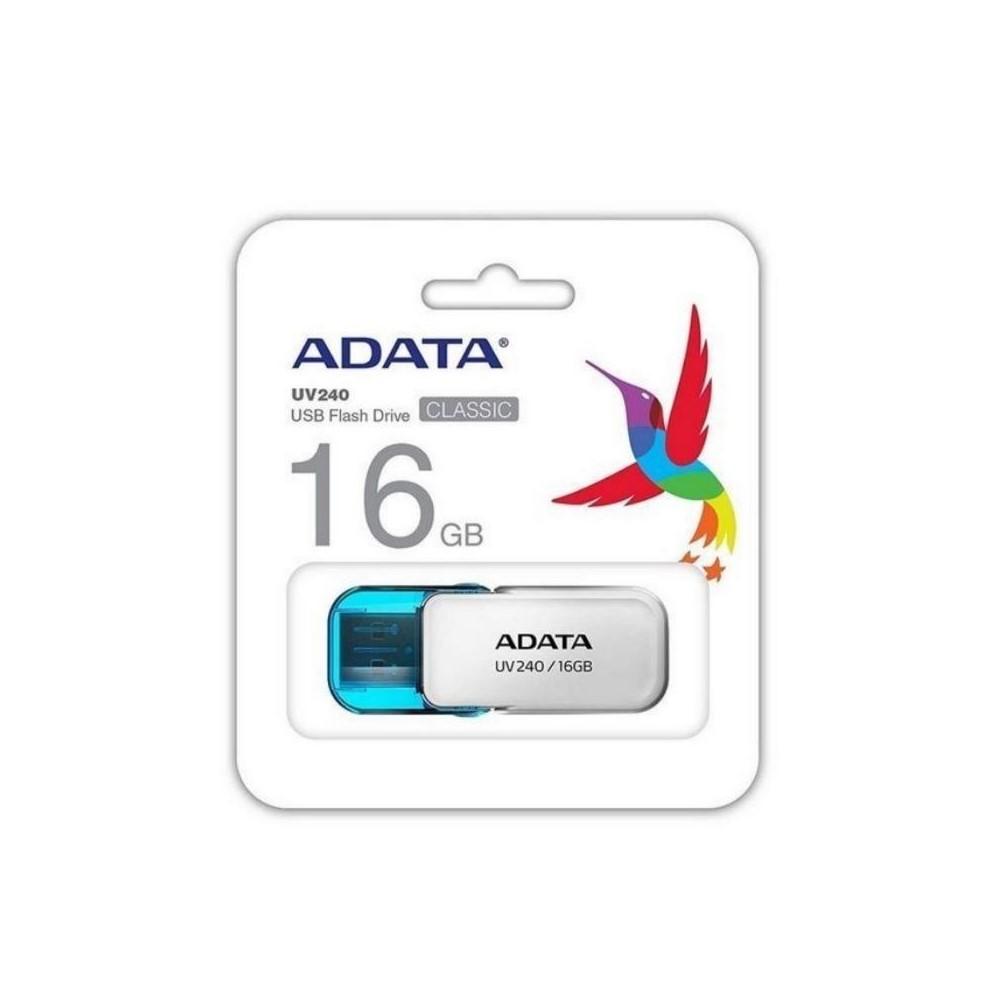 MEMORIA ADATA USB 2.0 UV240 ESCUALIZABLE 16GB BLANCA