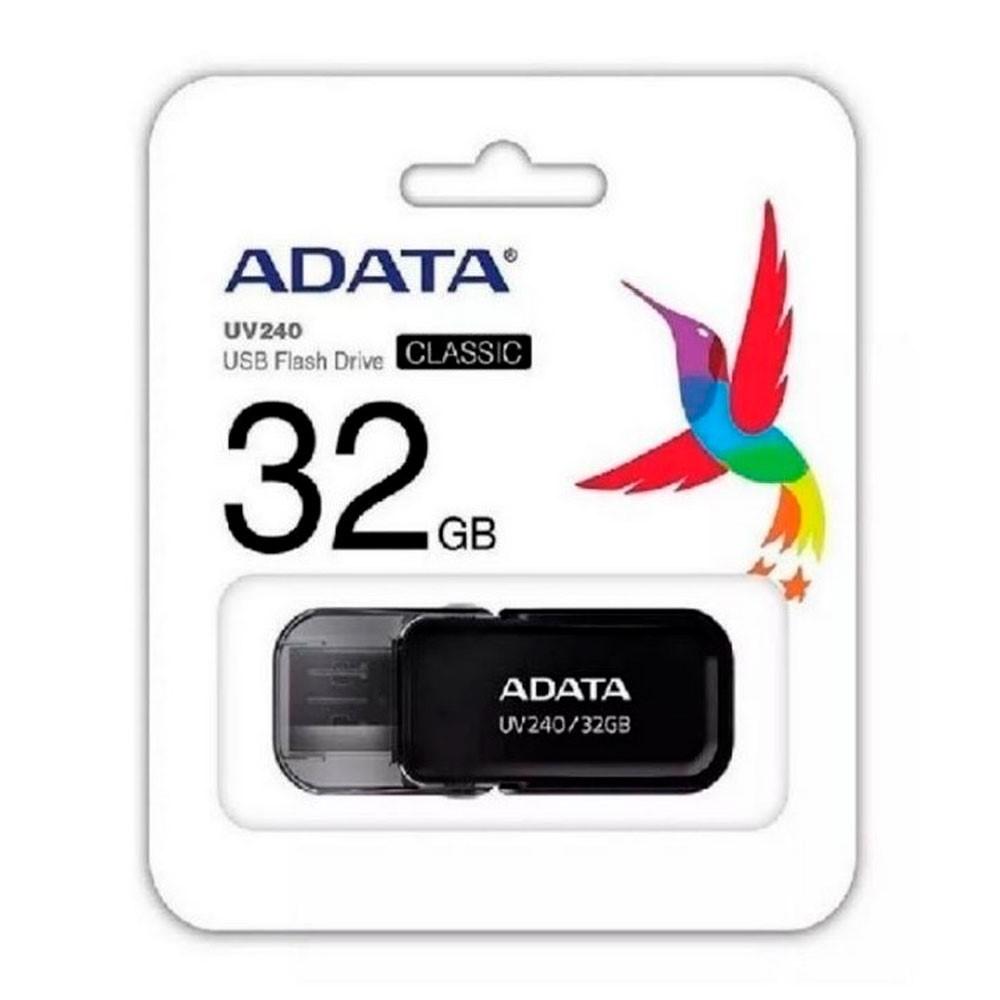 MEMORIA ADATA USB 2.0 UV240 ESCUALIZABLE 32GB NEGRA
