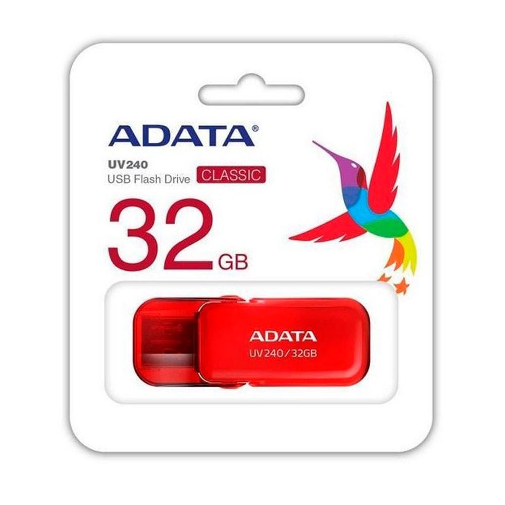 MEMORIA ADATA USB 2.0 UV240 ESCUALIZABLE 32GB ROJA