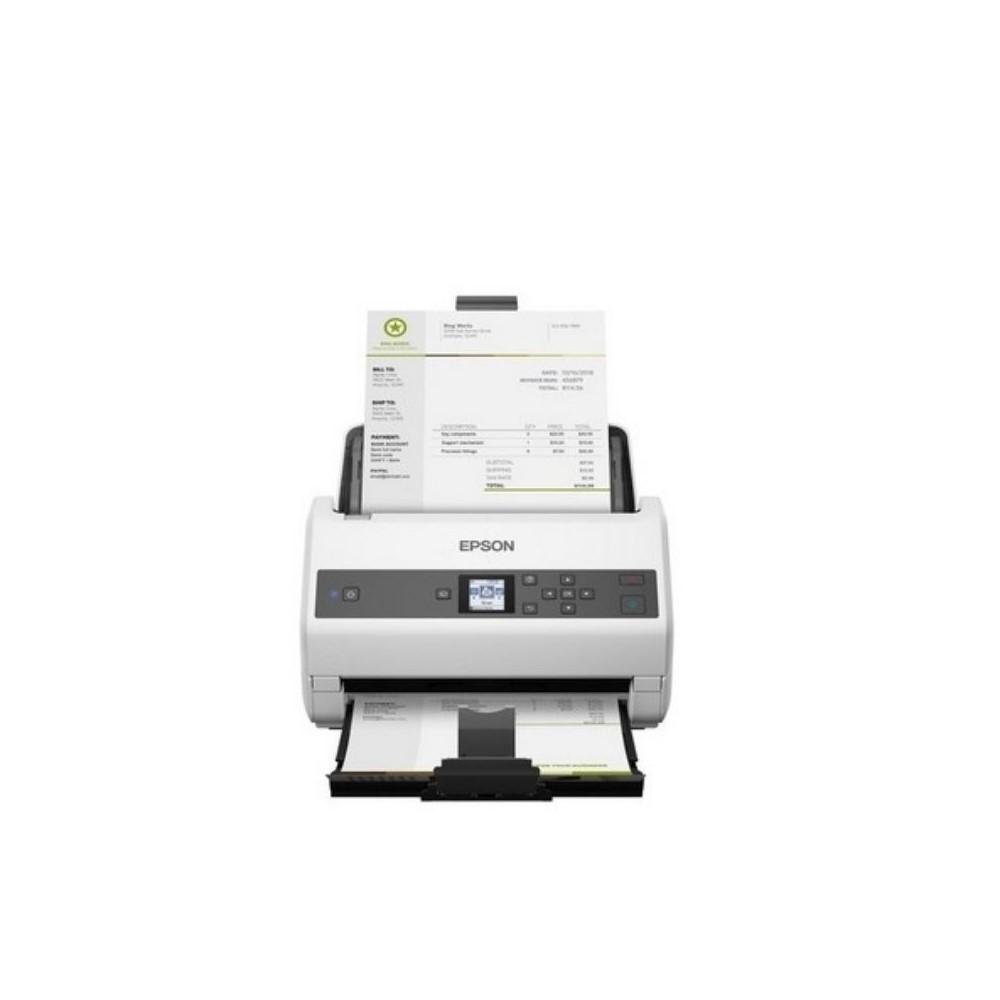 Escáner Epson WorkForce DS-870 vertical/Pantalla LCD/velocidad: 300dpi 65 ppm/130 ipm (Dúplex) /ADF hasta 80 paginas/ciclo diario hasta 7,000 paginas/USB3