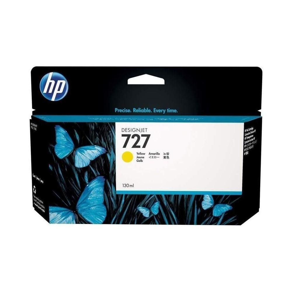 Cartucho de tinta HP 727 DesignJet amarillo de 130 ml
