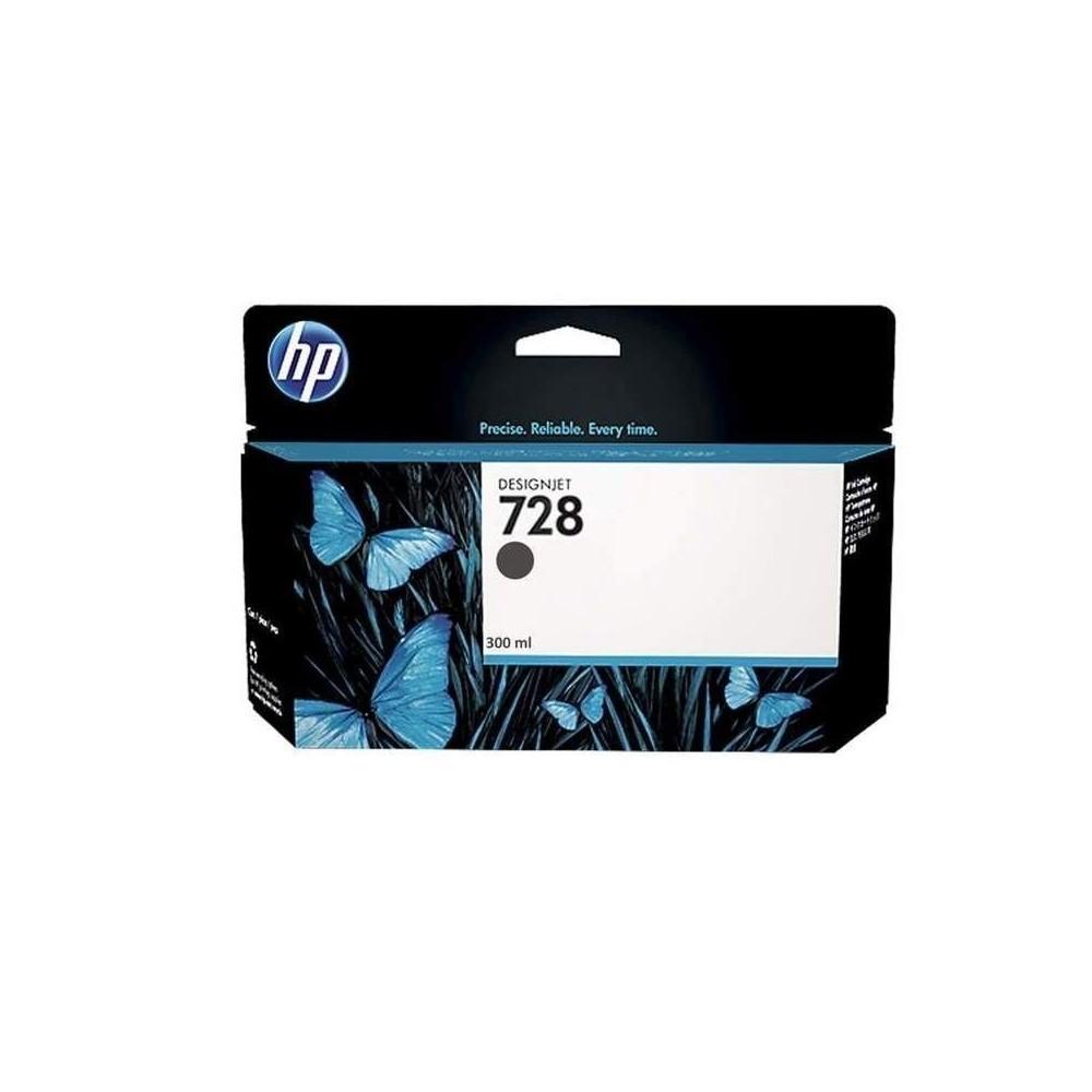Cartucho de tinta DesignJet HP 728 de 300 ml negro mate
