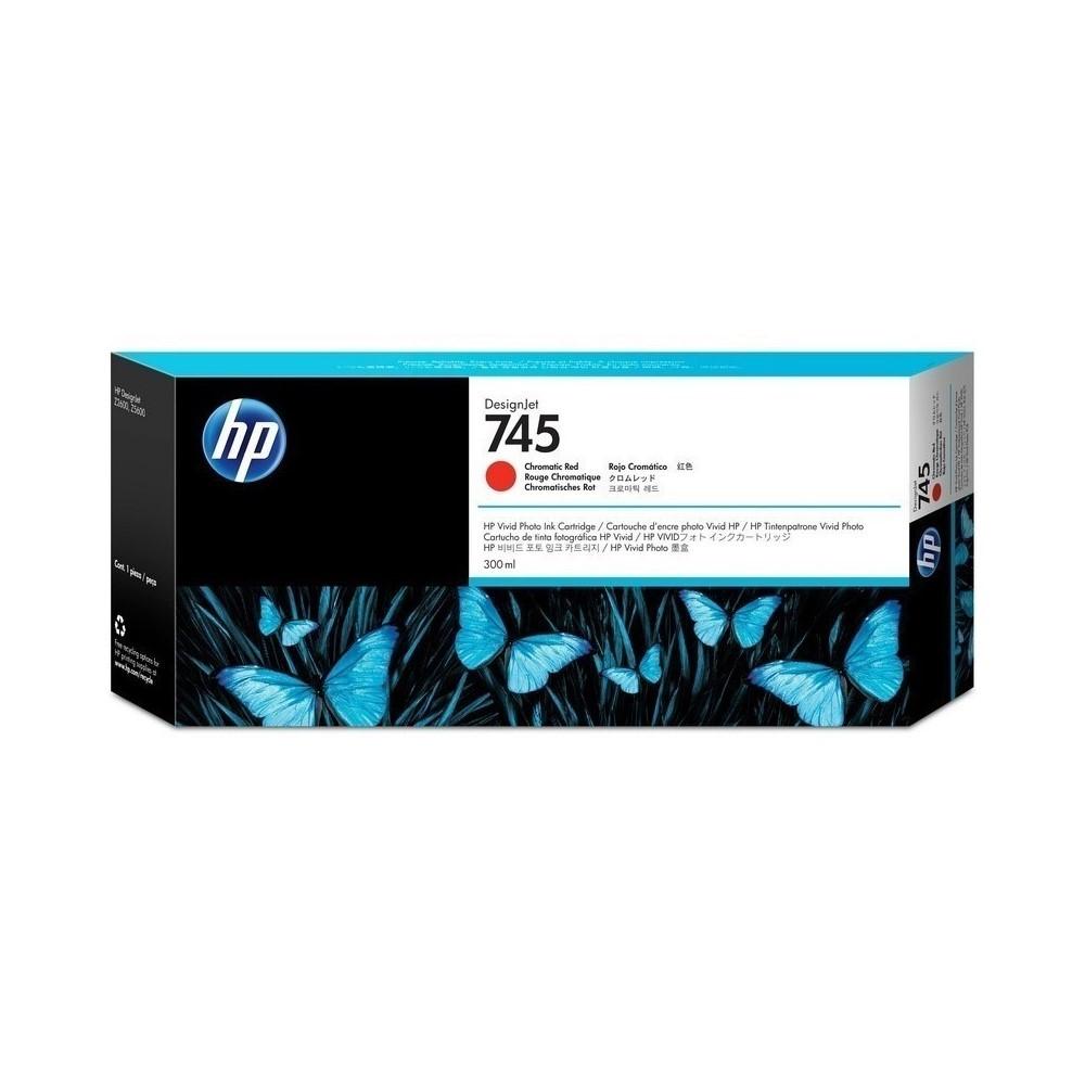 Cartucho de tinta Designjet HP 745 de 300 ml rojo cromático