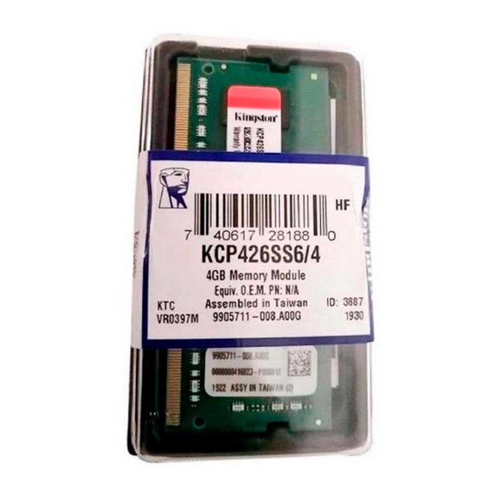 Memoria ram kingston para portatil 4GB DDR4 3200MHz
