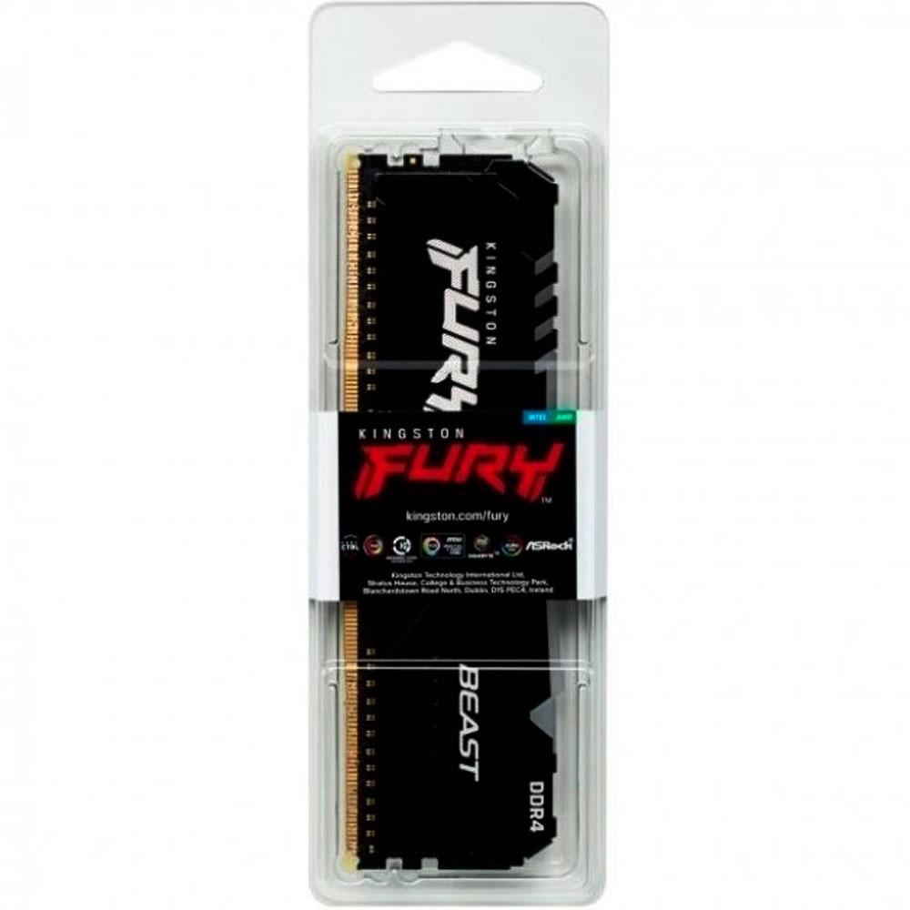 Memoria ram Kingston FURY Beast RGB para pc 8GB DDR4 3000MHz Single Module