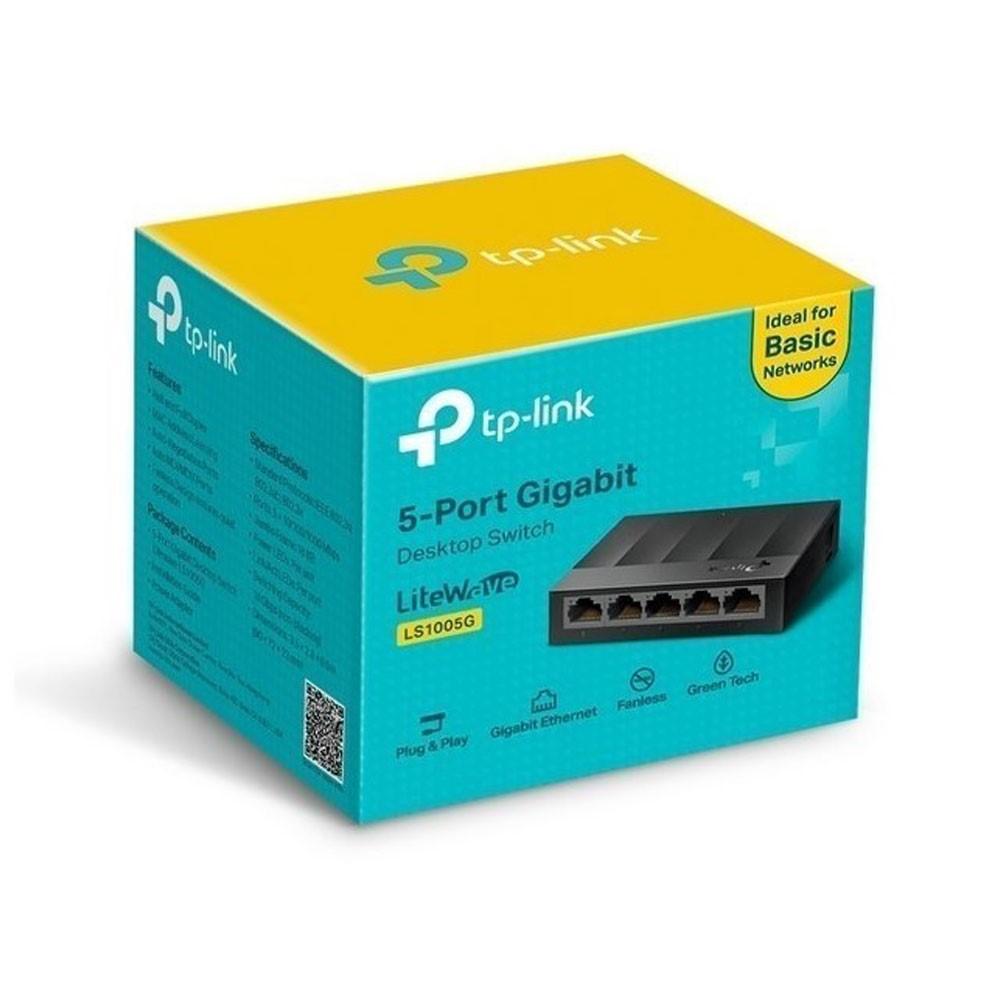 Switch 5 Puertos Tp-Link Ls1005G Gigabit No Administralbe