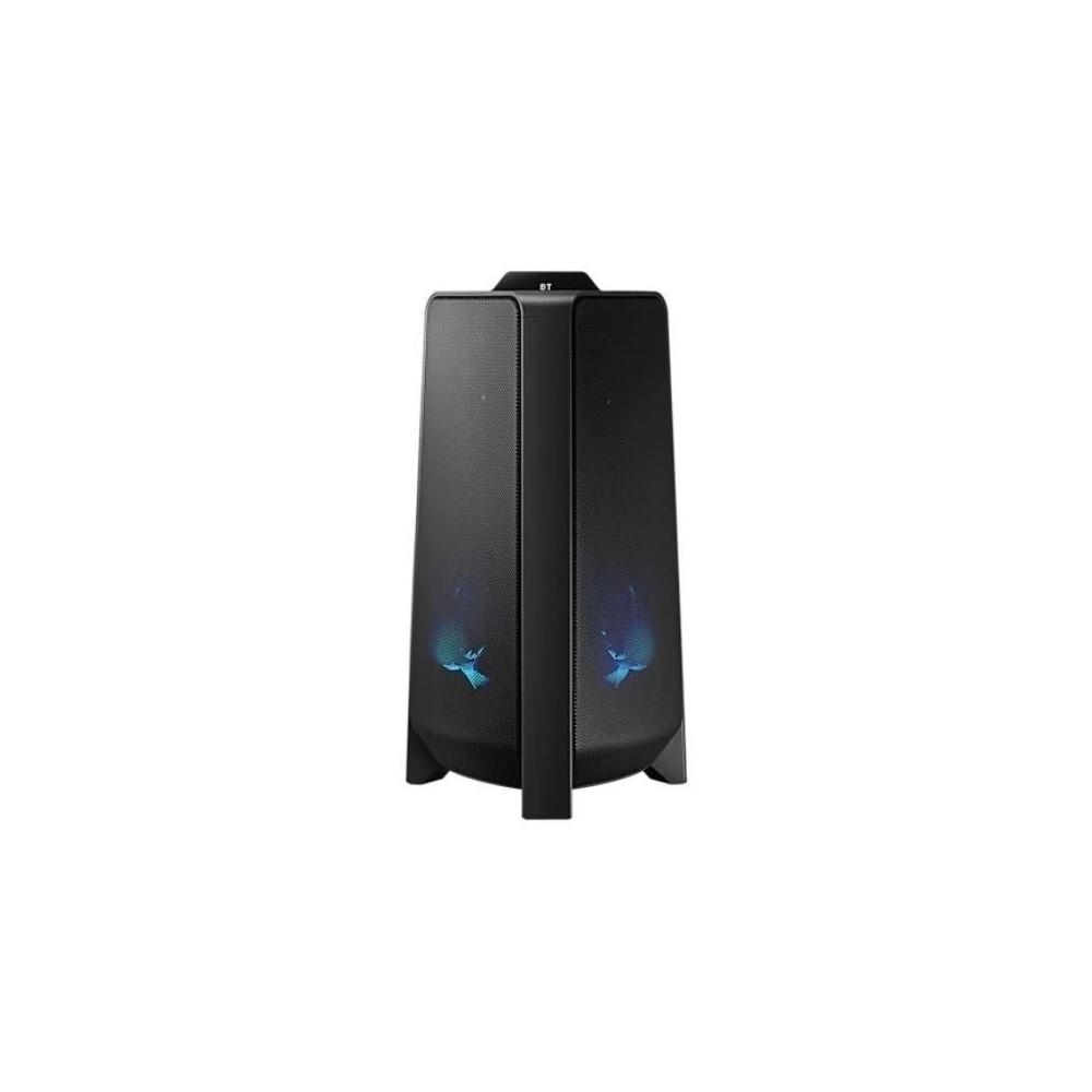 Torre de sonido Samsung, Sonido bidireccional (300 vatios), Diseño exclusivo, Resistente a salpicaduras, Potenciador de bajos, Luces LED para fiesta, Conexión multiple de Bluetooth, Group Play