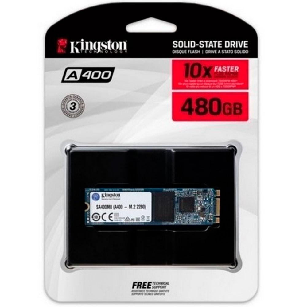 Unidad de estado solido sdd kingston A400 480GB M.2