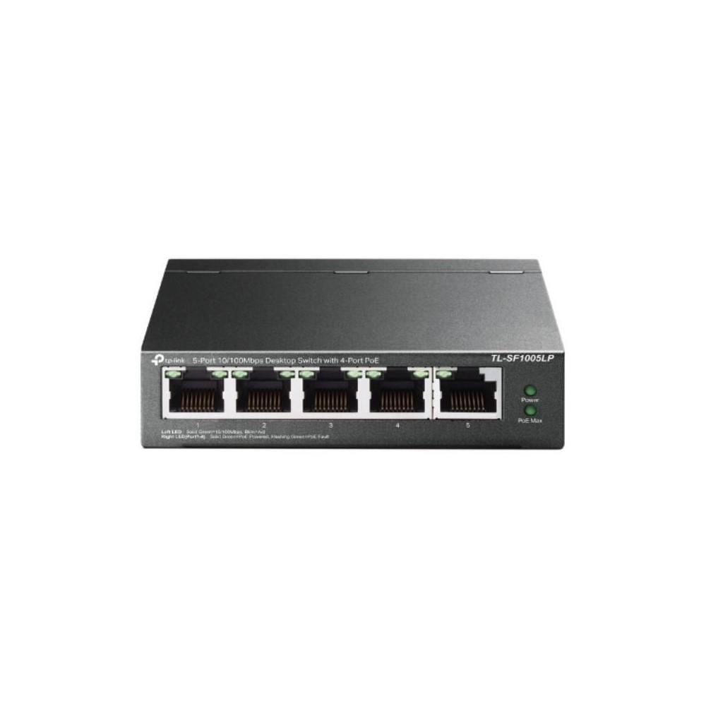 Switch TPLINK NO administrable 5 Puertos 10/100 4 Puertos POE
