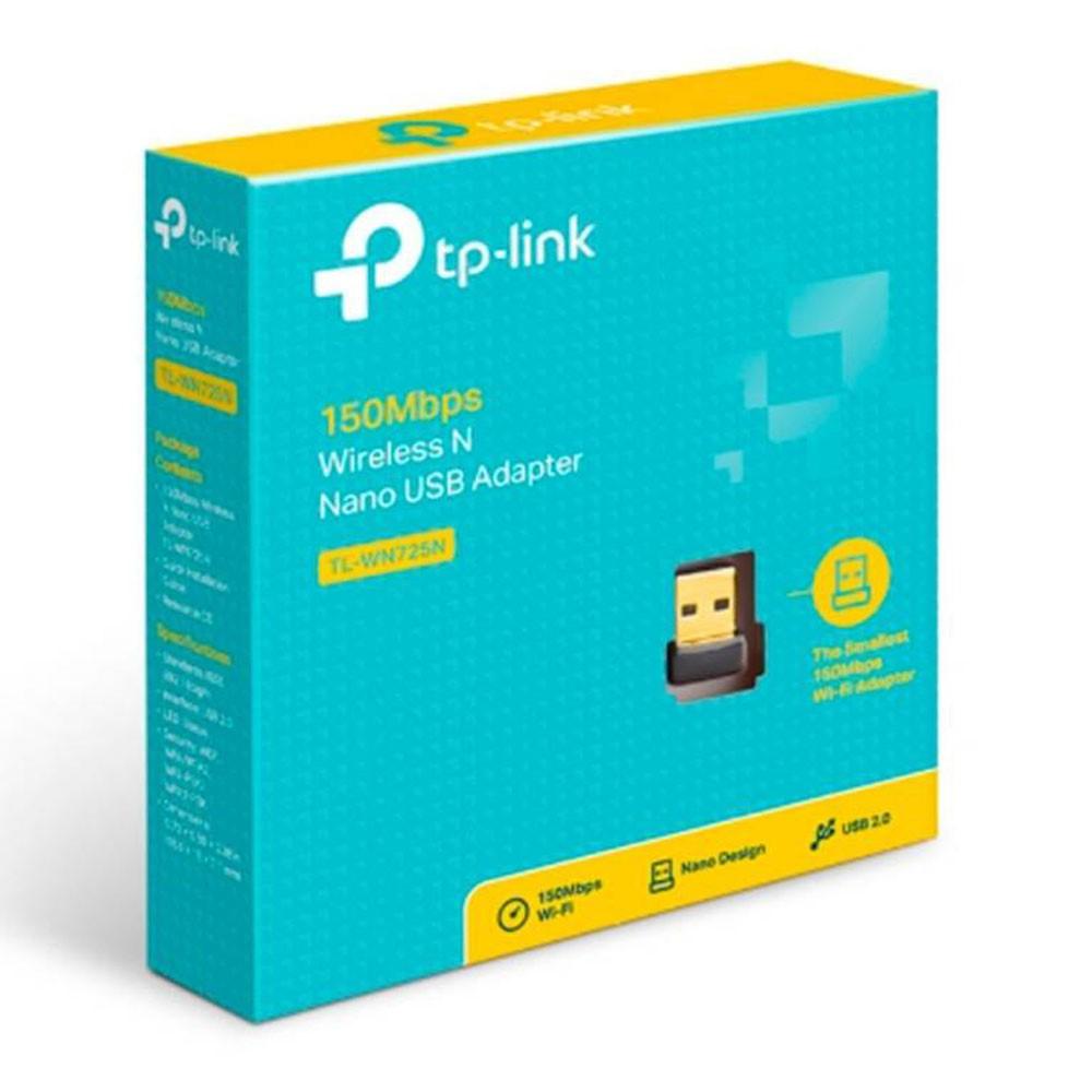 Adaptador de Red TPLINK Nano USB N 2.4 GHz, 150Mbps,
