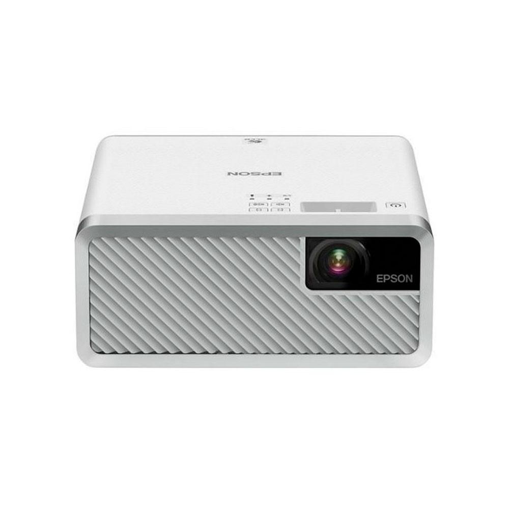 Video proyector Epson EF-100W MINI LASER PROJ (blanco)/Tecnología: 3LCD de 3 chips/ (2.000 lúmenes en Blanco y Color - Resolución  WXGA (1.280 x 800) x 3 HD 720p